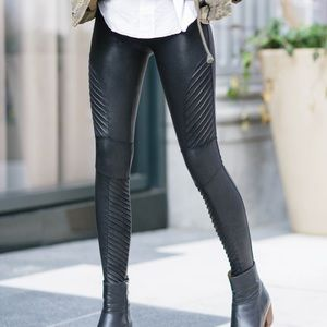 Spanx Faux Leather Moto New!